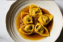 Duck and Black Truffle Agnolotti, Onion Stew