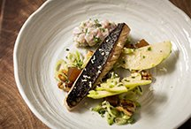 Charred Mackerel, Apple and Fennel Salad